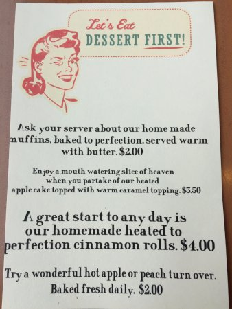 Momma Janes Pancake House: Specials on the Table