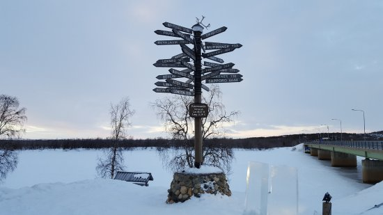 Monument of the Northernmost point of Sweden