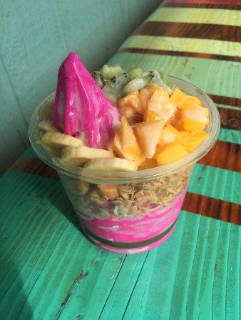 Frozen yogurt bowl