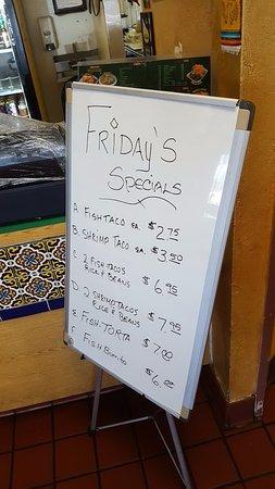El Cajon, CA: Friday Specials