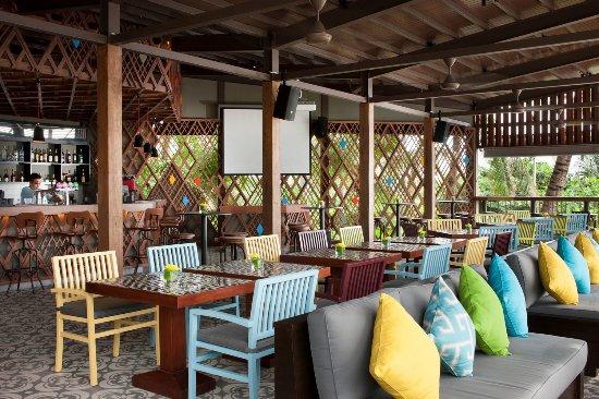 SKAI Beach Club Main Dining Room Bar Area