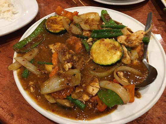 Woy Woy, ออสเตรเลีย: Dinner at KB Thai. Can't remember the exact dishes. There was soft shell crab, red curry with pr