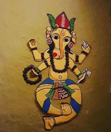 Wall Painting (Mithila art) - Picture of Sun Cafe and Bar, Patan ...