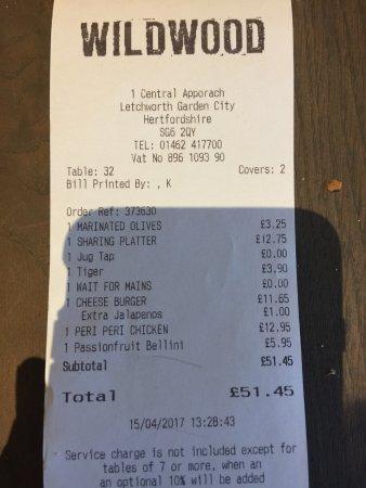 Letchworth, UK: The bill