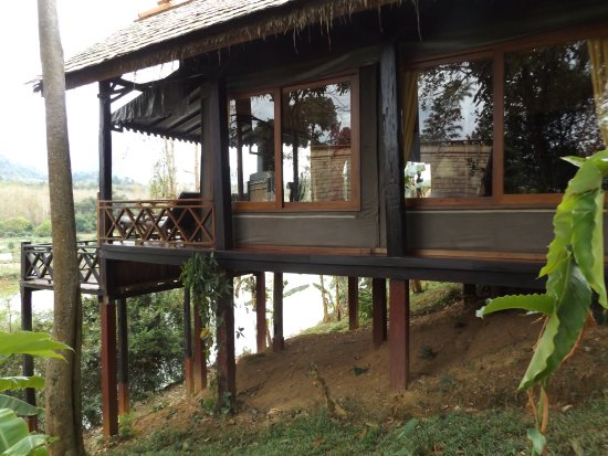 Ban Xieng Lom, Laos: Our room.