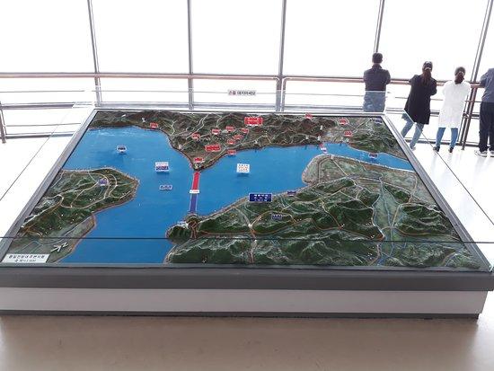 Gyeonggi-do, Südkorea: Rivers X-crossing