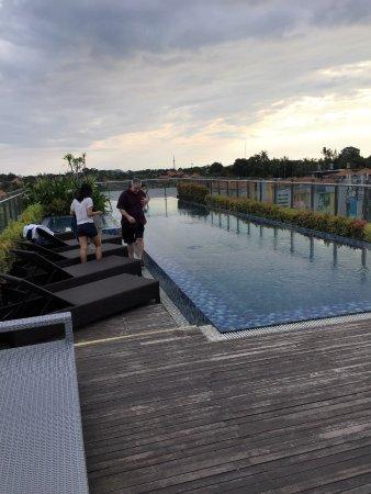 Bfast And Rooftop Area Picture Of Hotel Santika Seminyak Seminyak
