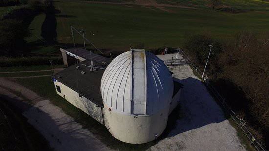 Sutton in Ashfield, UK: An aerial shot of the observatory