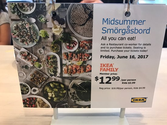 IKEA: Special menu