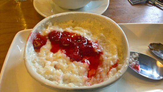 Coconut & raspberry rice pudding - Picture of Harvester ...