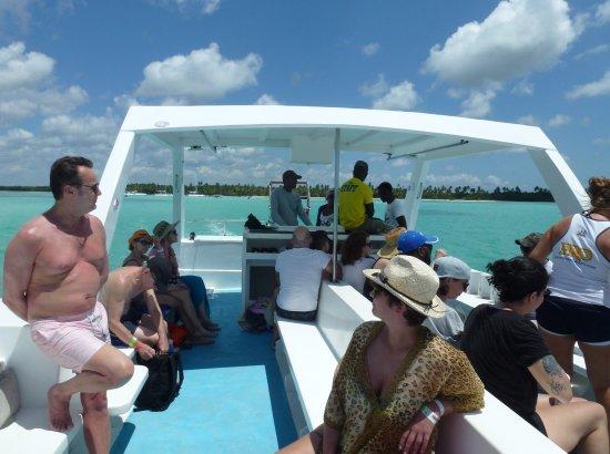 Bayahibe, Repubblica Dominicana: Le bateau de remplacement avec moins de confort ...