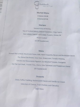 Gleddoch Hotel, Spa & Golf: Market Menu