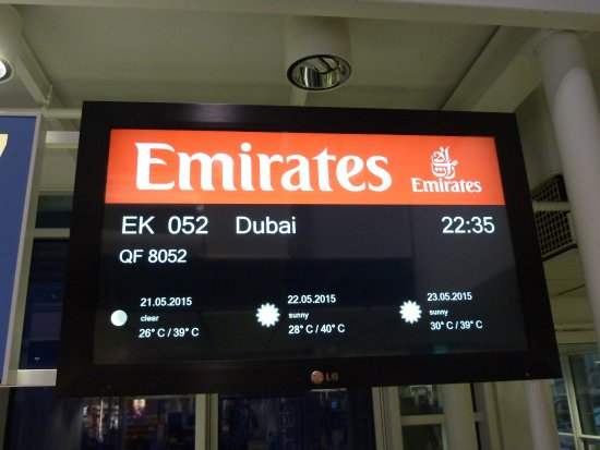 Abflug Frankfurt Emirates