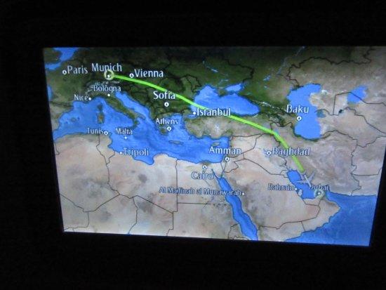 Flugroute Munchen Nach Dubai Picture Of Emirates Tripadvisor