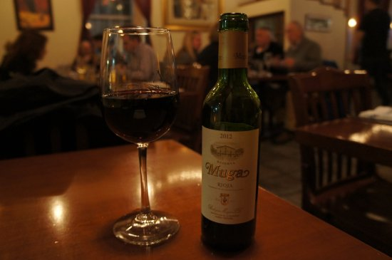 Navy Yard Bistro: Half bottle of Muga Reserval, a fine Spanish wine. This was the best thing here.