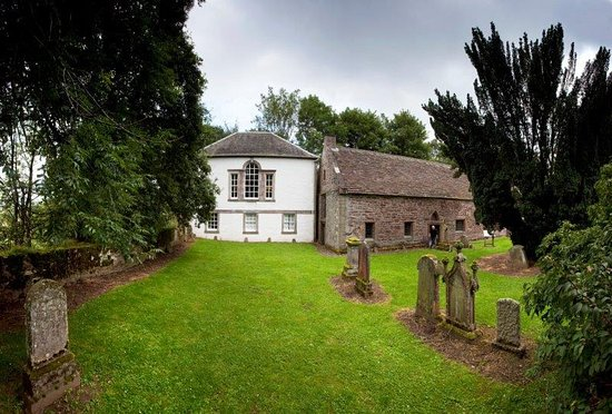 Crieff, UK : Innerpeffray Library sits beside Innerpeffray Chapel