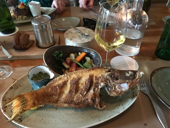 Jack Dusty: Whole fried Hogfish flavorful and enough for two.