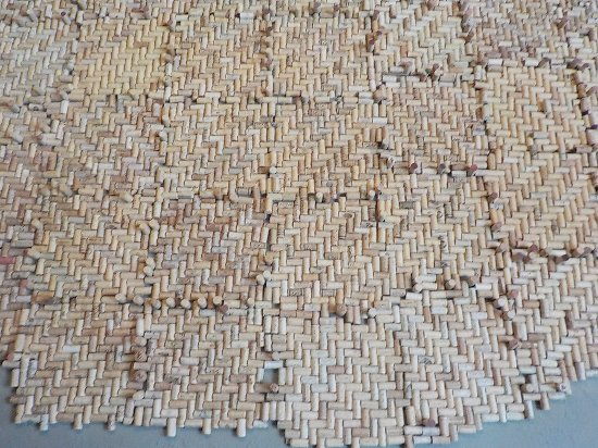 Cookeville, TN: A wall of wine corks ? soundproofing because of opened ceiling?