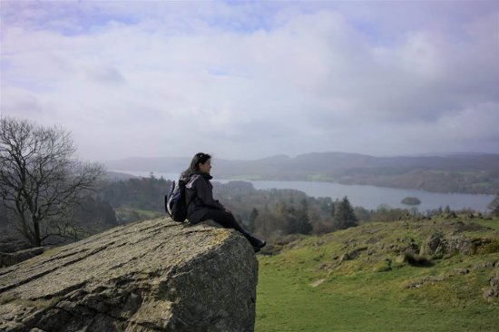 Bowness-on-Windermere, UK: enjoying the view