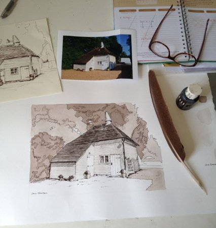 Cranbrook, UK: Godwin House Oast House by Jane Grierson (copyrighted)