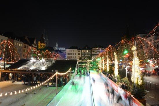the cologne christmas market ice skating at the christmas market - Cologne Christmas Market