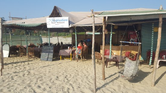 Mandrem Beach : Inspiration Restaurant- Grab a sunbed, open your tab and enjoy :)