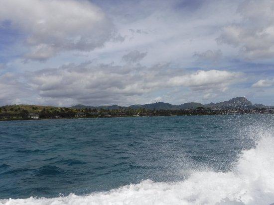 Koloa, HI: heading out to the dive spot