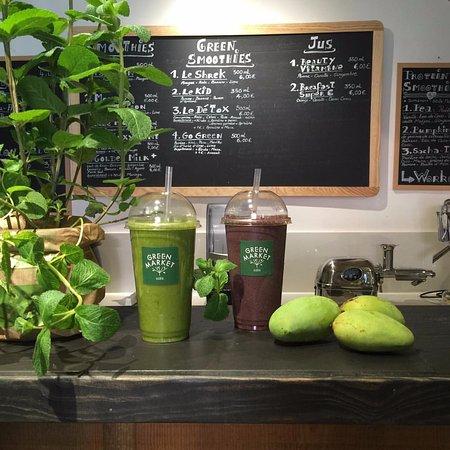Uzès, France : bar à jus, smoothie, GreenSmoothie, soupes et gaspachos