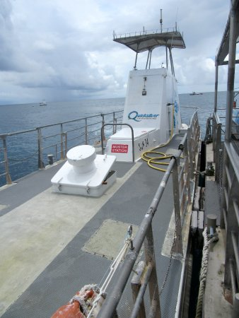 Agincourt Reef: The sub.