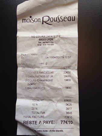 Restaurant Maison Rousseau Halles Lyon