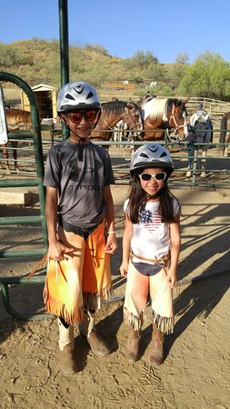 Cave Creek Trail Rides: Boots and chaps - ready to ride!