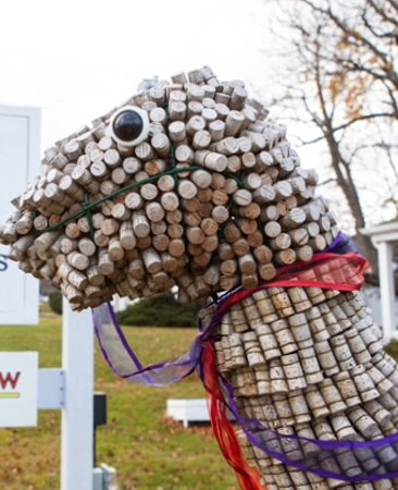 Cutchogue, NY: The corked dino, how to know you are in the right place