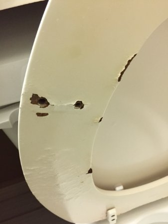 Lithonia, GA: broken toilet seat