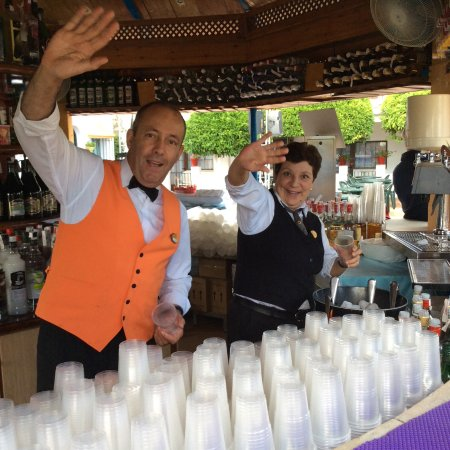 Globales Cortijo Blanco Hotel: Our friendly pool bar staff