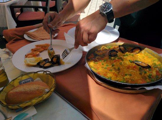 los Tarajales : Paella de mariscos