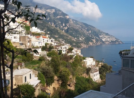 Venus Inn B&B Positano : View from breakfast balcony
