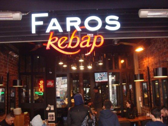 Faros kebap: مدخل المطعم