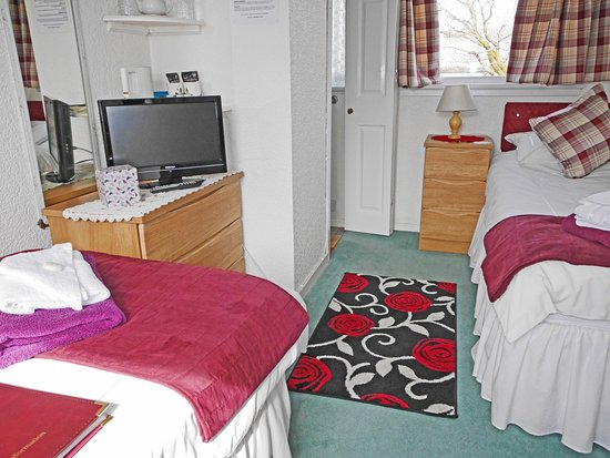 Viewbank Guest House: Lovely double aspect Twin room with en-suite shower - can also be a single.