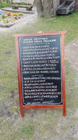 Cafe Kluntje: Tagesangebot Kuchen und Torten