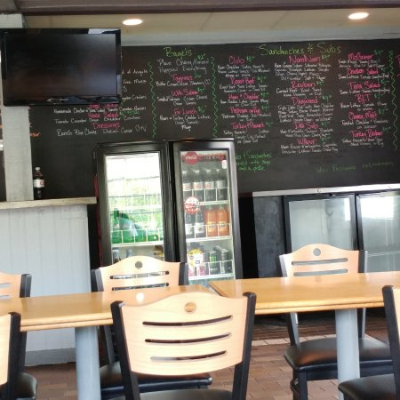 Blacksburg, VA: Huge Menu Board and Drinks