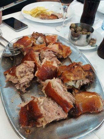 Anadia, Portugal: roasted piglet