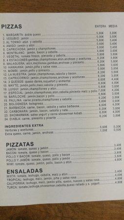 Casabermeja, Spain: Pizzeria Nuevo Mont Blanc