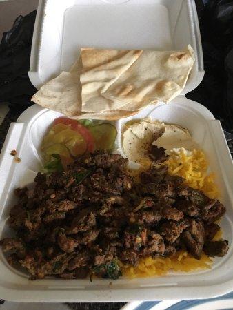 Hoffman Estates, IL: Beef Shawarma Platter