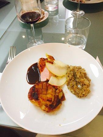Caviar d aubergine cote de porc pomme au four - Ecole de cuisine a paris ...