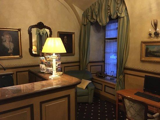 check in desk picture of hotel pod vezi prague. Black Bedroom Furniture Sets. Home Design Ideas