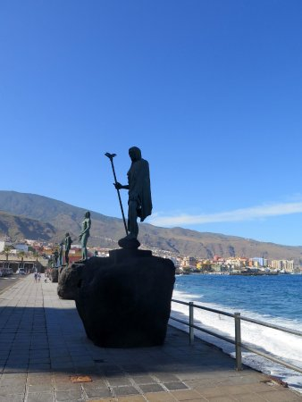 Candelaria, Spain: Rambla de los Menceyes. One of the rulers.