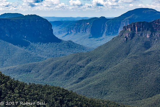 Blackheath, Australia: This is why they are called the Blue Mountains