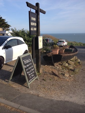 The Buddle Inn : View from Buddle Inn, Niton Undercliff