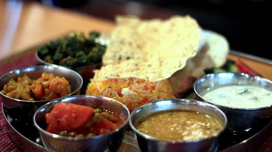 Mantra Indian Restaurant : Our vegetarian Thali