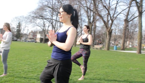 St. Catharines, Kanada: Outdoor yoga sessions through BPT Tours